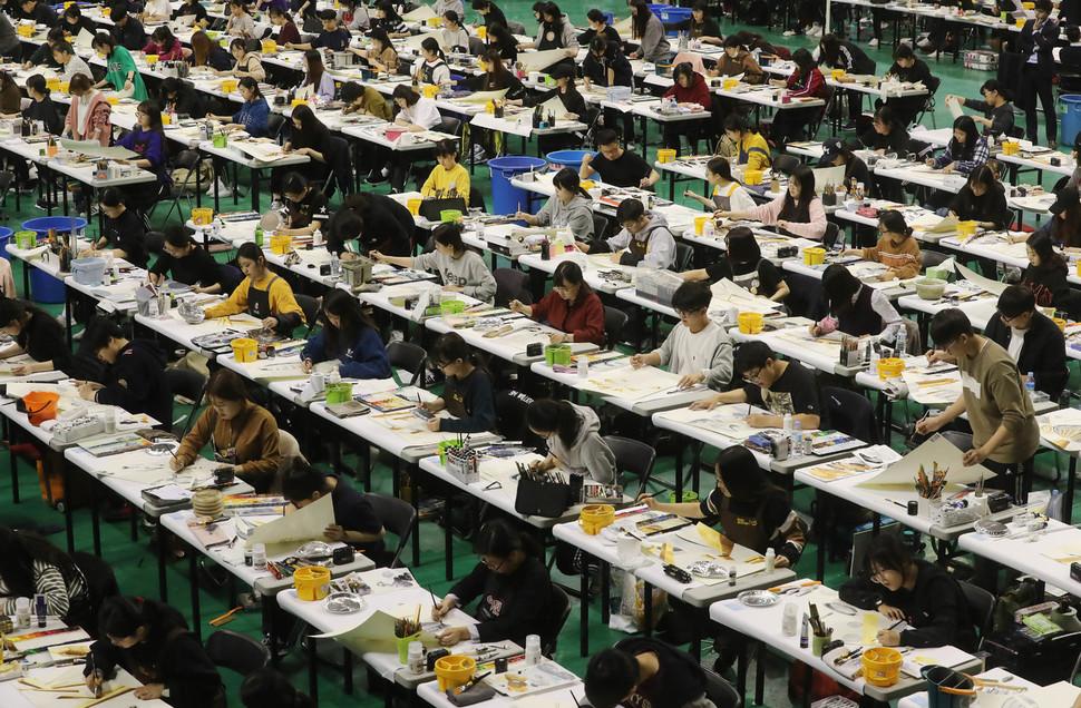 Lớp học ngành mỹ thuật 1 trong những ngành thế mạnh cuả trường Hanyang