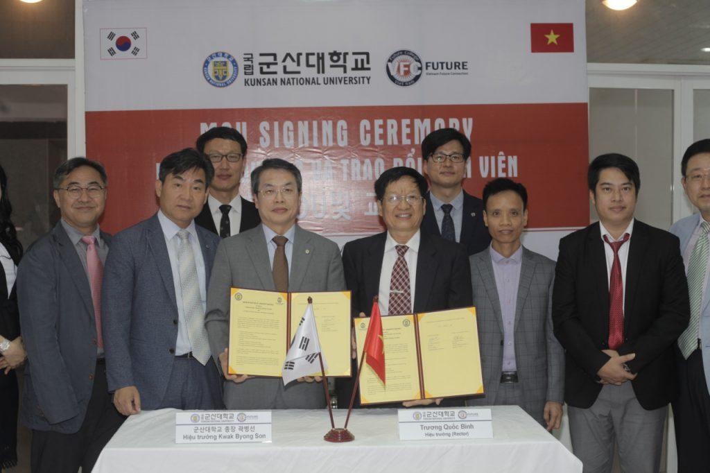 Lãnh đạo trường Kusan sang Việt Nam kí liên kết với trường FUTURE