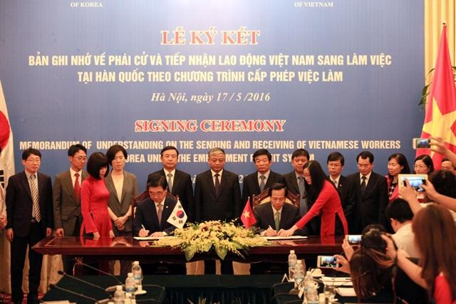 Lễ kí kết giữa Việt Nam và Hàn Quốc về chương trình EPS từ năm 2016