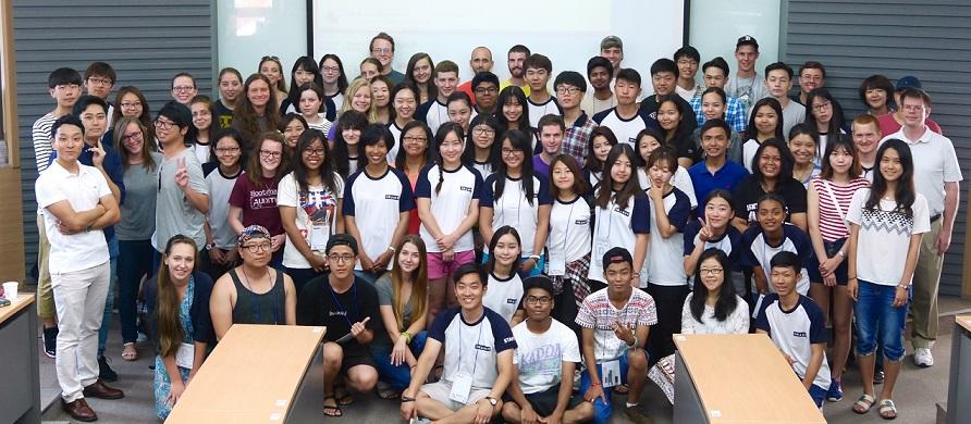 Sinh viên quốc tế tại trường đại học toàn cầu Handong