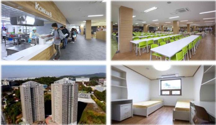 Khu kí túc hiện đại của trường Kyonggi