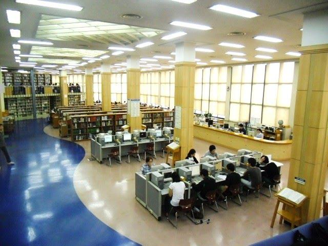 Khu thư viện của trường đại học sogang