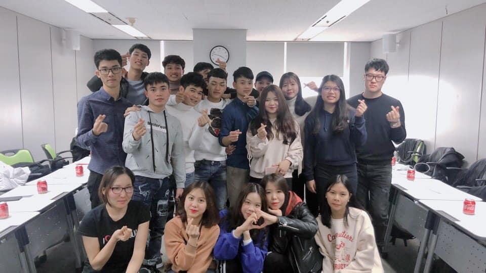 Học viên của VFC đang theo học tại trường Đại học Incheon