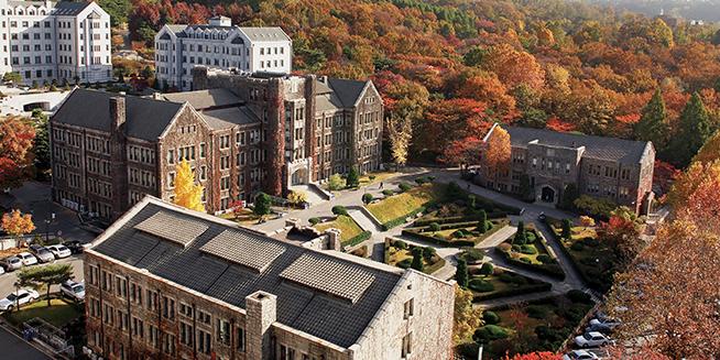 Khuôn viên tổng thể đẹp tuyệt vời của trường đại học Yonsei