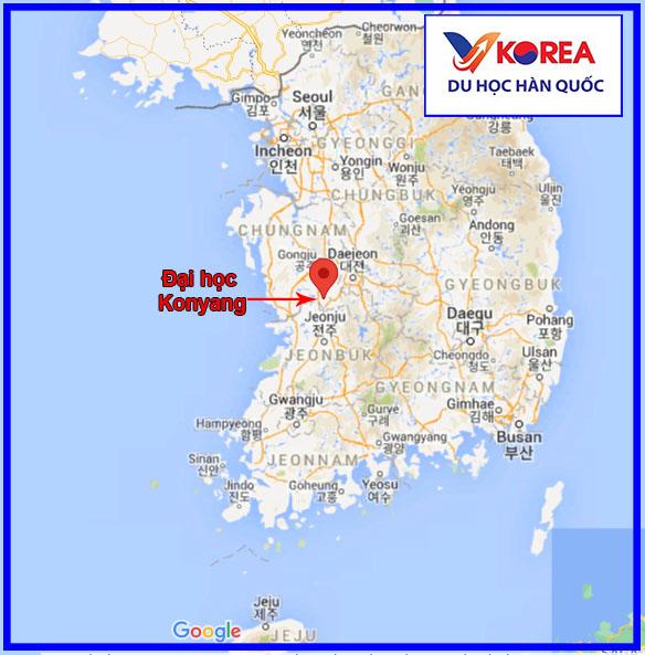 Vị trí trường đại học Konyang